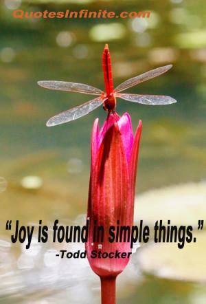 Joy in simple