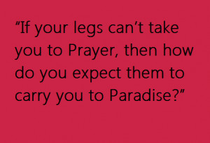 Take care of your prayer