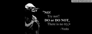 Yoda Quote Cover