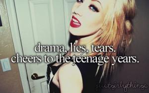 drama, girl, quote, saying, teenager