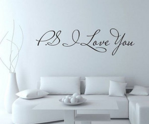 Love You Wall Decal quote Love wall Decal by stickershut, $22 ...