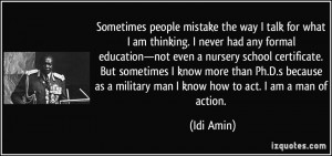 More Idi Amin Quotes