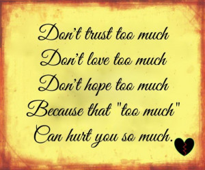 Trust Quotes Love Quotes About Trust Issues and Lies In a ...