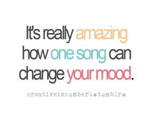 power of music. true