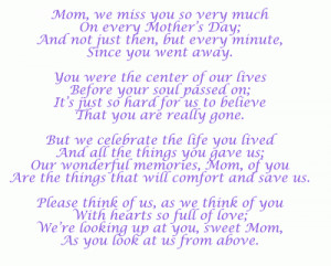 missing my mom quotes and pics | missing mom on mother s day Mothers ...