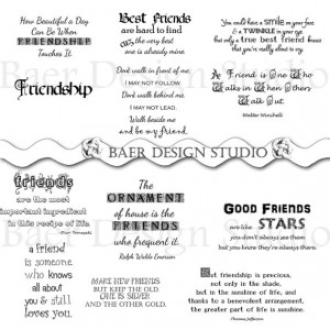 FRIENDSHIP QUOTES digital word art, clip art for cards, scrapbooking ...
