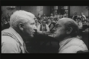 ... left) and Matthew Harrison Brady (March), right) in Inherit the Wind