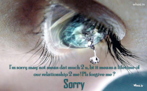 Sorry Beautiful Quotes like i am sorry may not mean dat with Bule ...