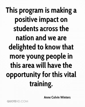 This program is making a positive impact on students across the nation ...