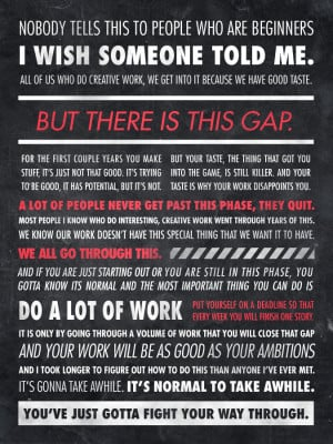This is an Ira Glass quote translated into a beautiful typographic ...