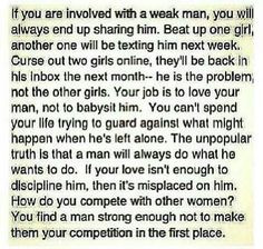 the men or women who do this. That think they can control men or women ...