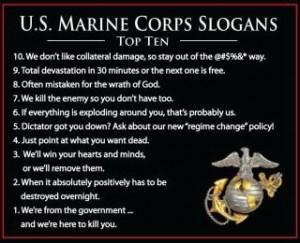 Top Ten Marine Slogans