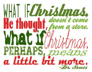 What if Christmas means a little more?