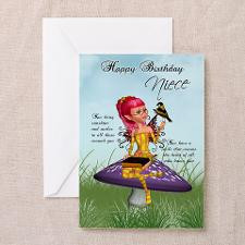 Niece Fairy Birthday Greeting Card for
