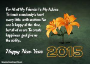Happy New Year 2015 Heart