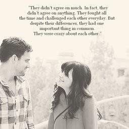 ... my favourite things become one. Notebook quote, New Girl photo. Love