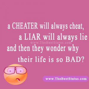 Quotes About Liars And Cheaters