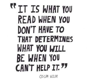 Oscar wilde reading quote