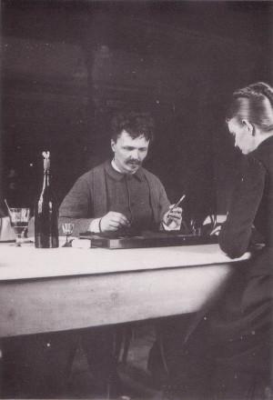August Strindberg et sa femme Siri Von Essen (qui incarna Mademoiselle ...