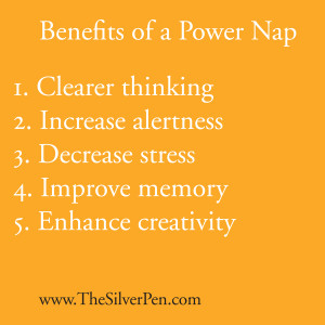 ... five hours of sleep the night before, consider taking a power nap