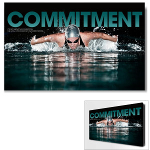 Commitment Swimming Motivational Art (703769)