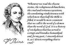 thomas paine on the bible more thomas pain religious quotes atheism ...