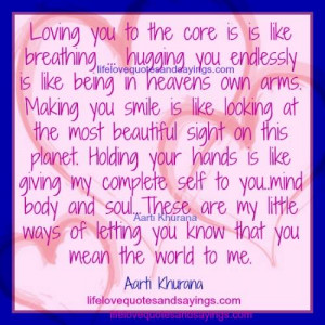 Loving You Is Like Breathing.. - Love Quotes And Sayings