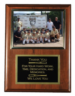 11.5 x 15 Photo Plaque with Metal Laser Engraved Plate, Holds an 8 x ...