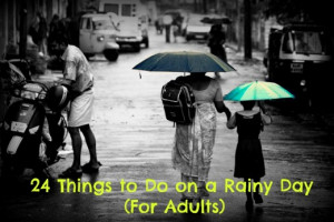 Rainy days are somber-yet-beautiful. What's your favorite thing to do ...