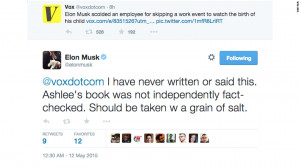 Elon Musk: I did not slam worker for attending child's birth