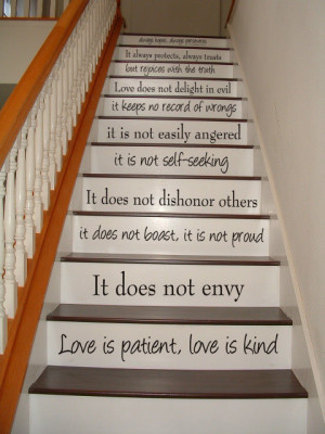 Love is Patient, Love is Kind - 1 Corinthians 13 - STAIR CASE - Bible ...