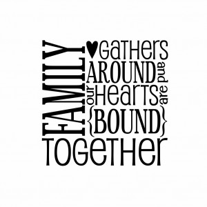 family – family vinyl wall decal wall quote subway wall decals block ...