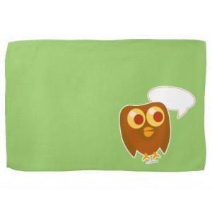 cute_customizable_sayings_owl_kitchen_towel ...