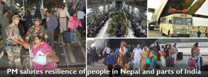 PM salutes resilience of people in Nepal and parts of India