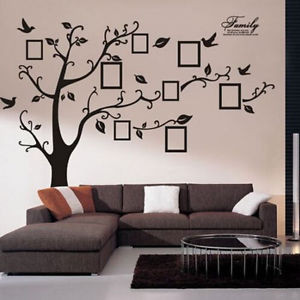Family Piture Photo Frame Tree Quote Wall Sticker Vinyl Removable ...