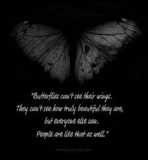 ... wings #beautiful #everyone is beautiful #quotes #black and white