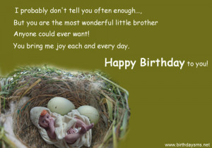 Cute Birthday Quotes for Littlebrother