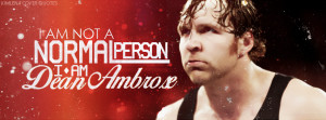 Cover Quotes] Dean Ambrose Quotes by KimLena