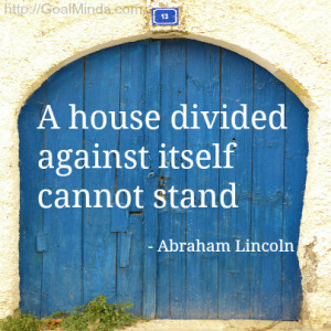 abraham lincoln - a house divided