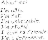 About ME.I'm Ugly,I'm Fat.I'm Unbearable. I'm Stupid. I Have ...