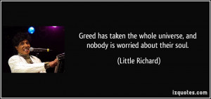 Greed has taken the whole universe, and nobody is worried about their ...