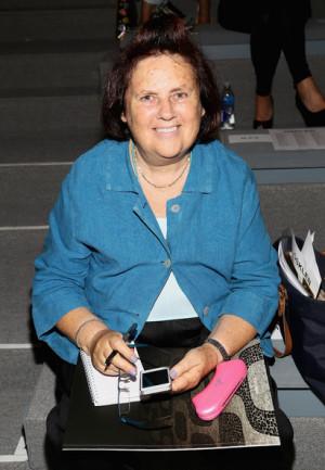 Suzy Menkes Fashion journalist Suzy Menkes attends the Osklen fashion