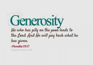 Generosity Bible Quotes