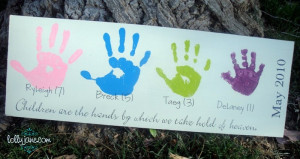 mother s day handprint board mostly because it s handmade