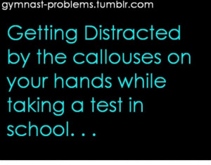 Gymnast problems. Yesss happens ALL the time!!!