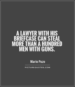 Gun Quotes Lawyer Quotes Stealing Quotes Mario Puzo Quotes