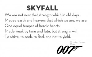 Ulises poema de Skyfall 007 Lord Tennyson's poem 'Ulysses'