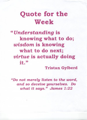"... Next, Virture Is Actually Doing It "" - Tristan Gylberd ~ Body Quotes"