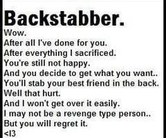 Backstabber Friend Quotes