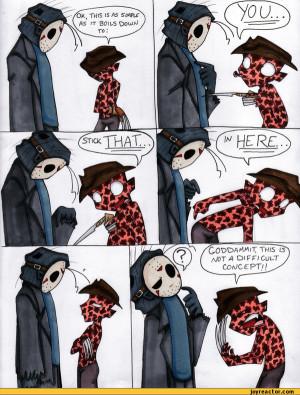 Jason & Freddy Krueger Funny Cartoon